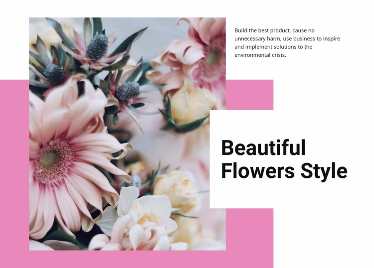 Beautiful flowers style  Website Template