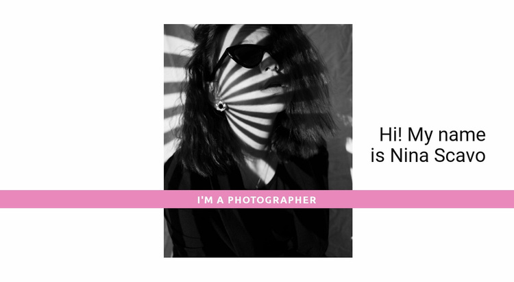 The top photographer  Website Template