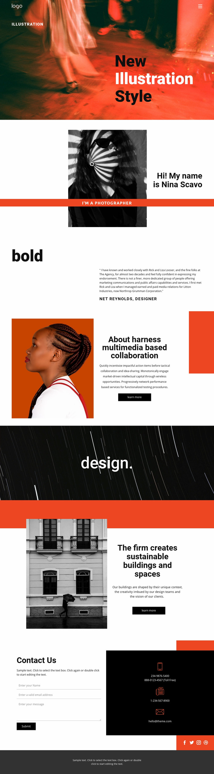 Illustration styles for art  Web Page Design