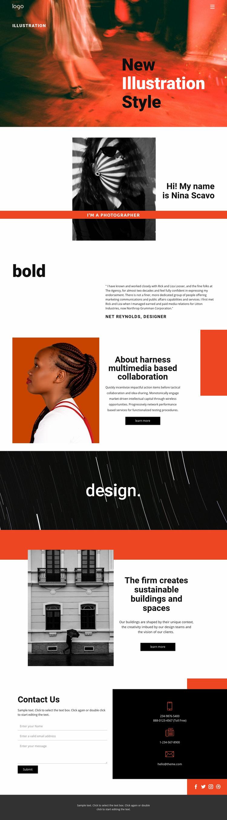 Illustration styles for art  Web Page Designer