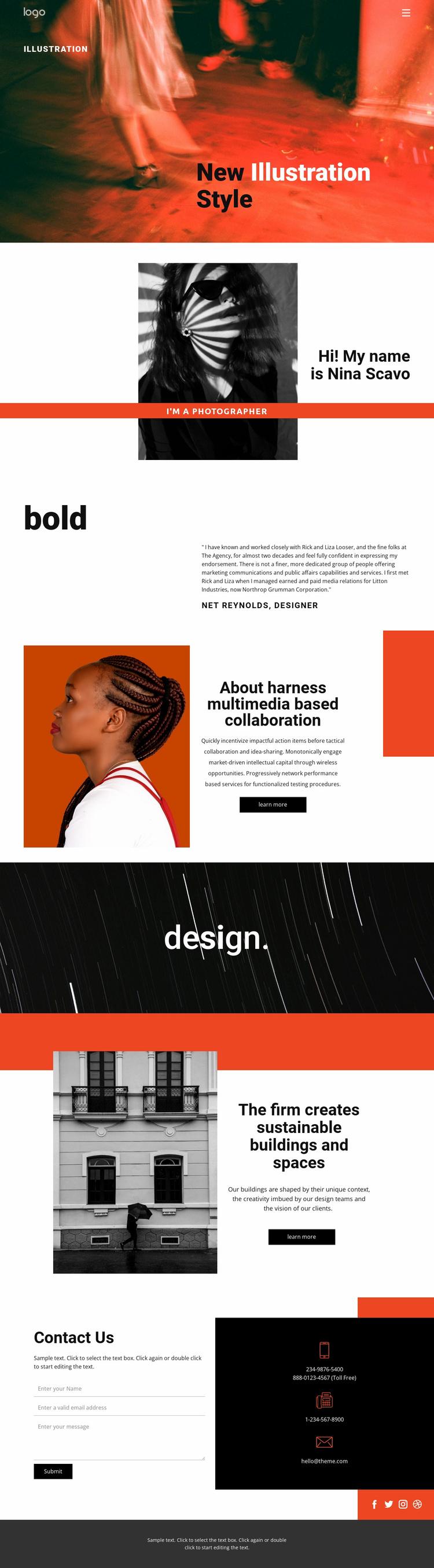 Illustration styles for art  Website Template