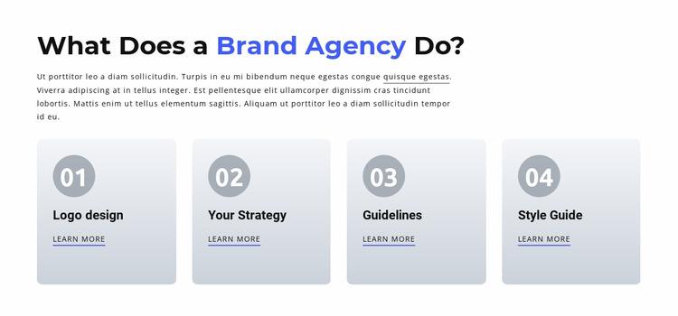 Branding and Digital  Agency Html Website Builder
