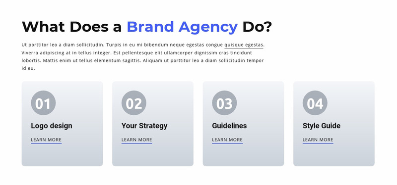 Branding and Digital  Agency Web Page Design