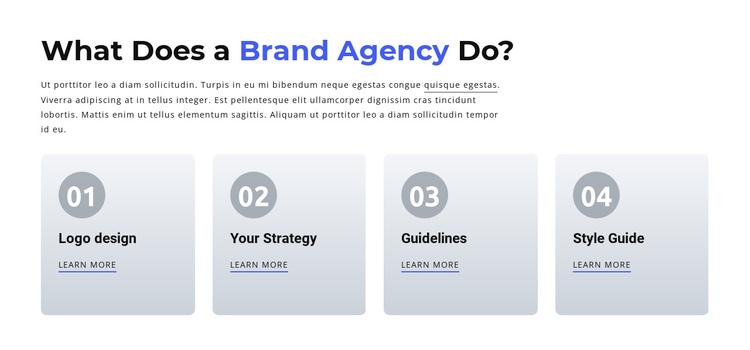 Branding and Digital  Agency Website Builder Software