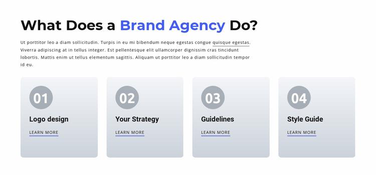 Branding and Digital  Agency Website Template