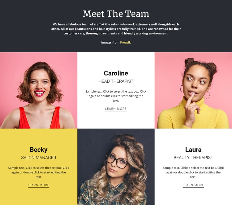 Amazing fashion team CSS Template