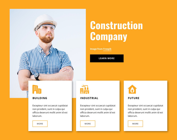 Engineering experts HTML Template
