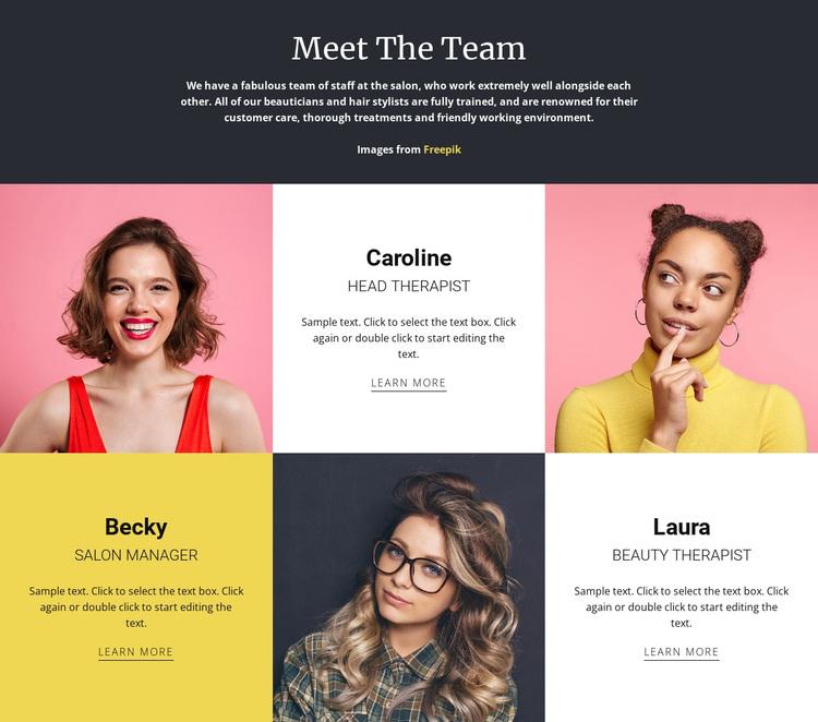 Amazing fashion team Joomla Page Builder