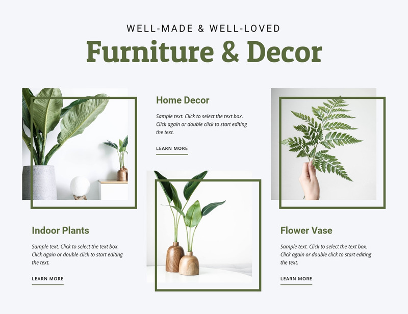 Furniture and decor Web Page Design