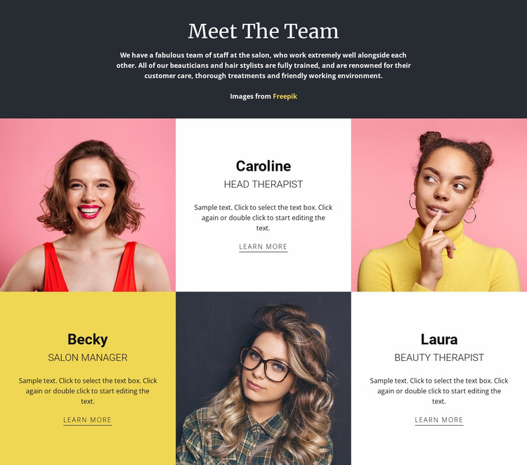 Amazing fashion team Website Template