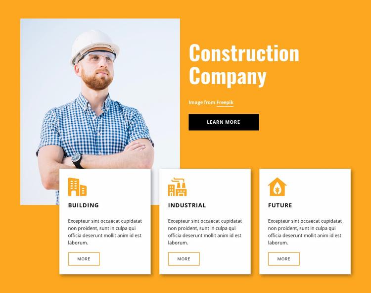 Engineering experts Website Template