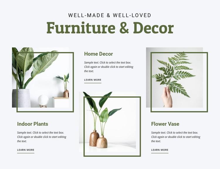 Furniture for interior WordPress Template