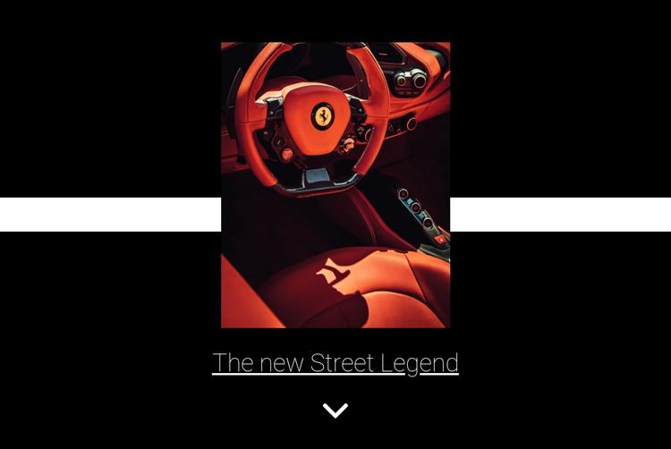 New street legend  HTML Template