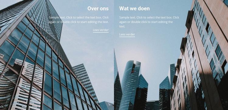 Onze beste projecten Website sjabloon
