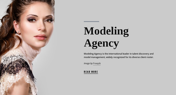Model agency and fashion One Page Template