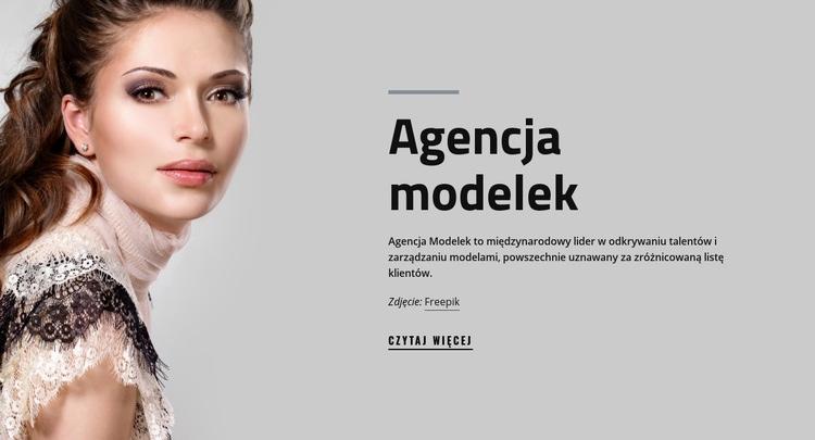 Agencja modelek i moda Szablon Joomla