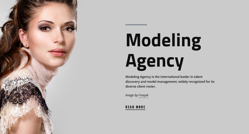 Model agency and fashion Web Page Design