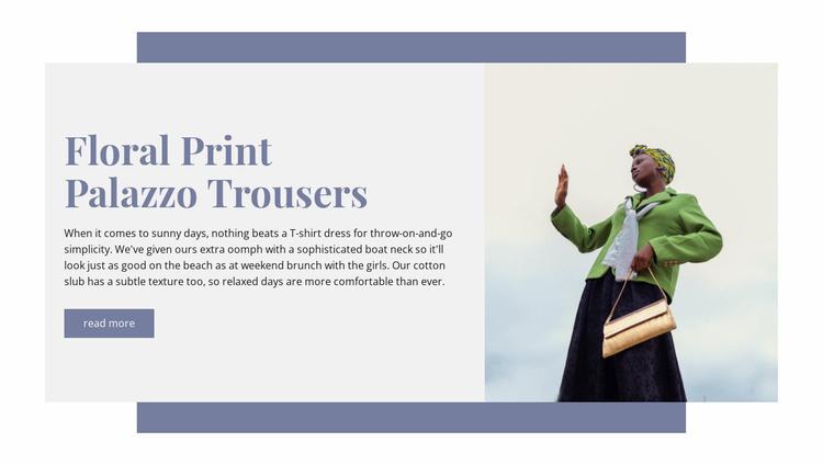 Floral print  Website Template