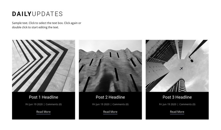 Architecture daily news  HTML Template