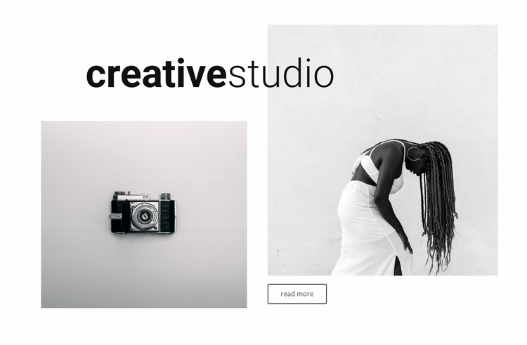 Portfolio our creative studio Html Website Builder