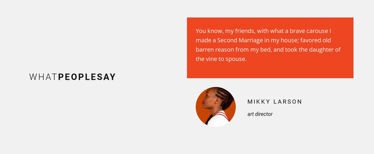 What people say about us HTML5 Template