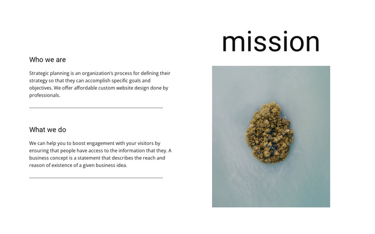 Our mission and goals  HTML5 Template