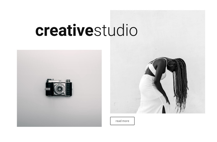 Portfolio our creative studio One Page Template