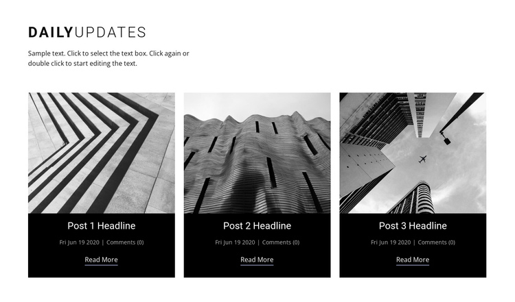 Architecture daily news  One Page Template