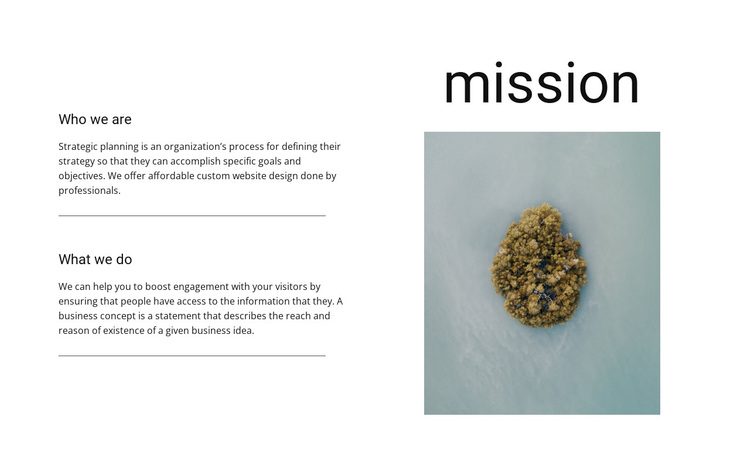 Our mission and goals  Template
