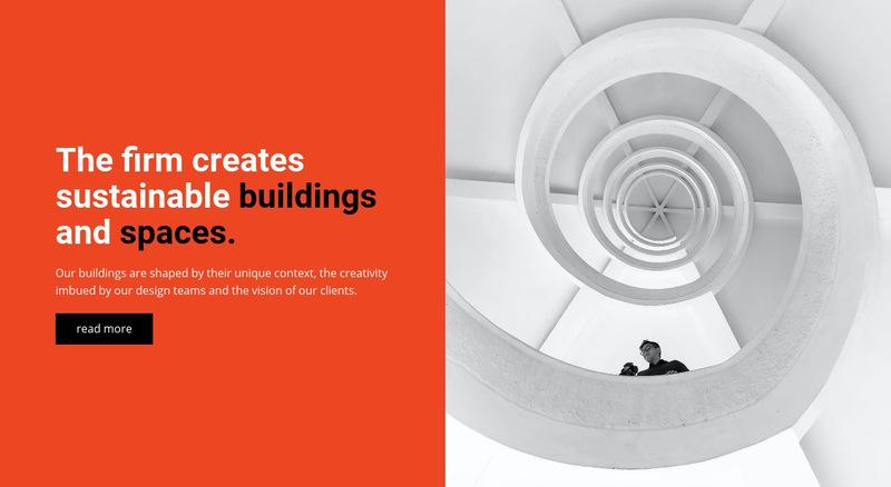 We create buildings Web Page Designer