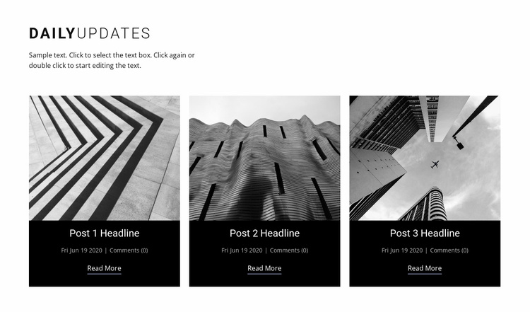 Architecture daily news  Website Template