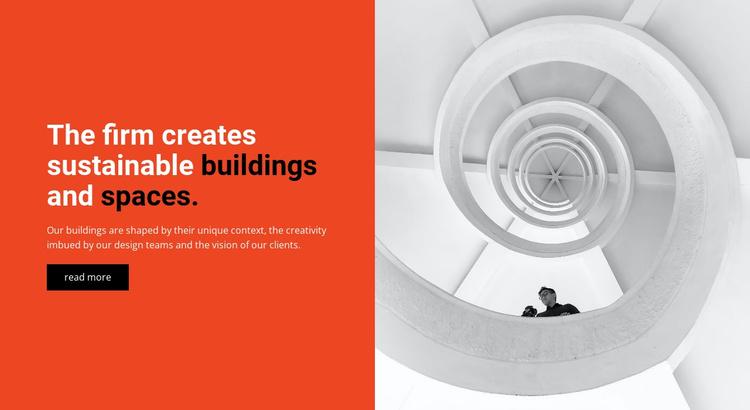 We create buildings Website Template