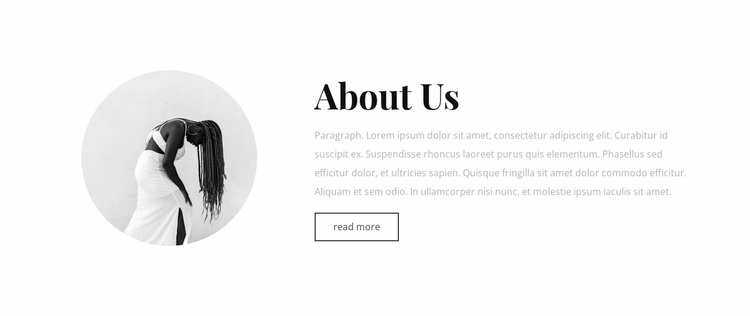 About our art studio Website Template