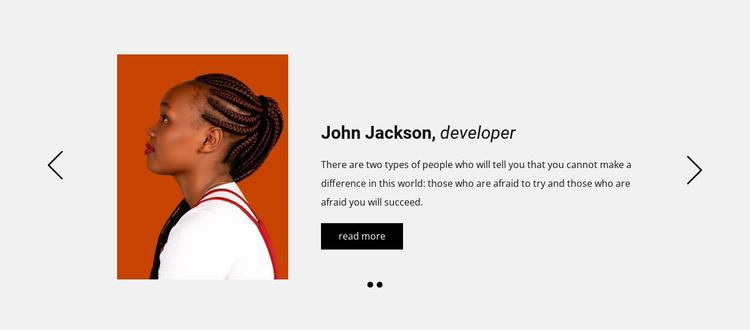 Positive customer feedbacks Joomla Template
