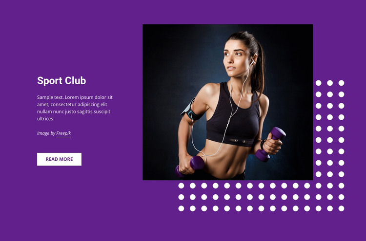 Sports, hobbies and activities HTML Template
