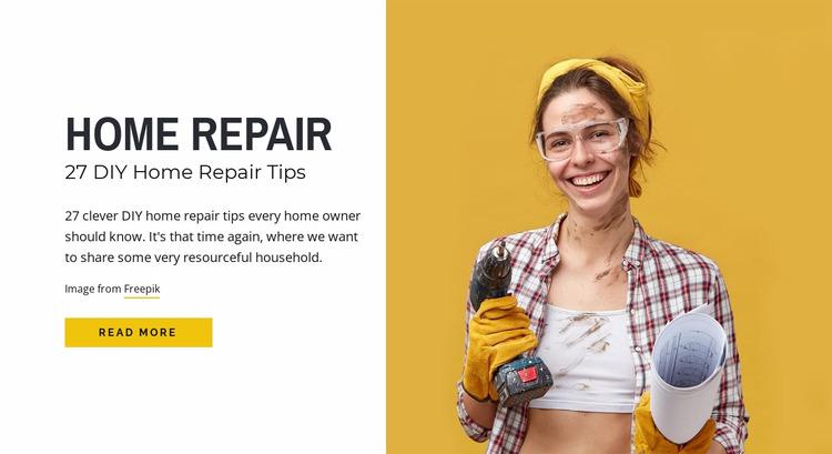 DIY home repair tips Html Website Builder