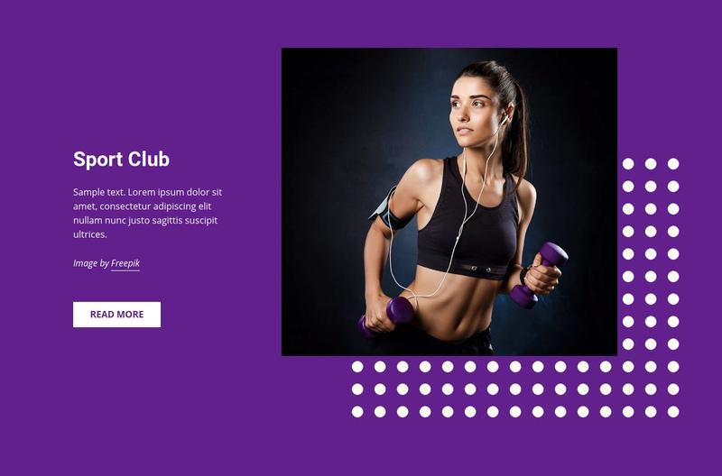 Sports, hobbies and activities Website Creator