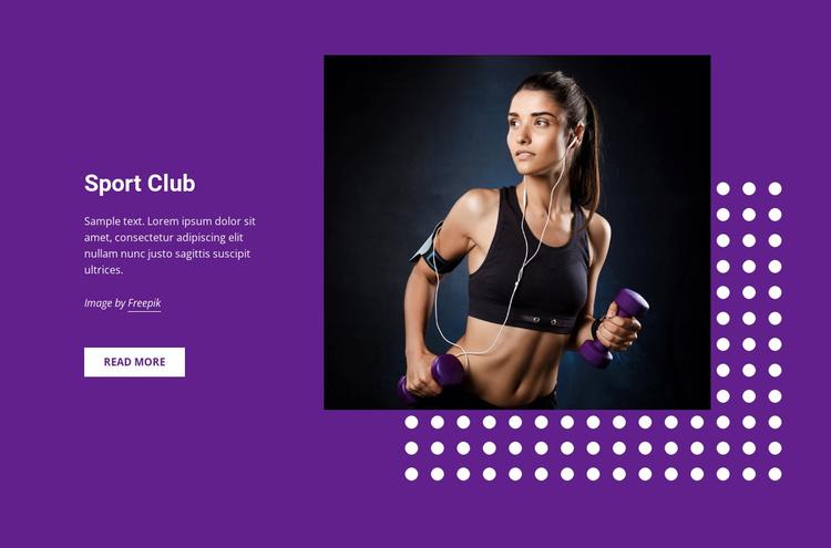 Sports, hobbies and activities Website Template