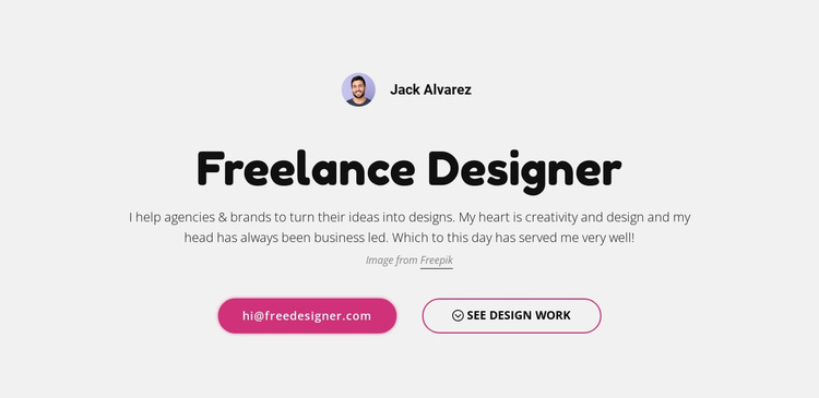 I am  freelance graphic designer Website Mockup