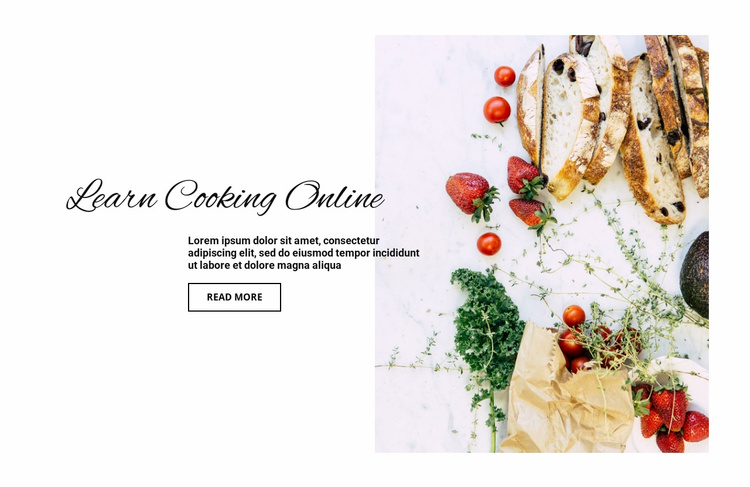 Lessons in beautiful food presentation Website Template