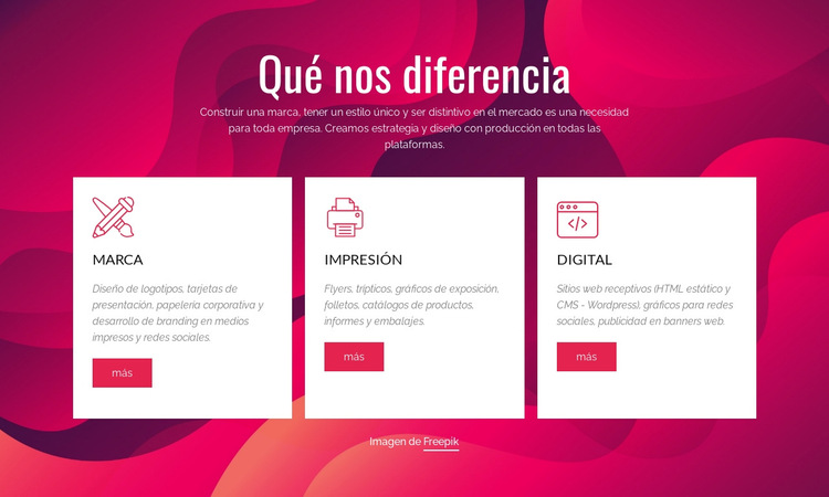 Estudio creativo digital y de marca Plantilla de sitio web
