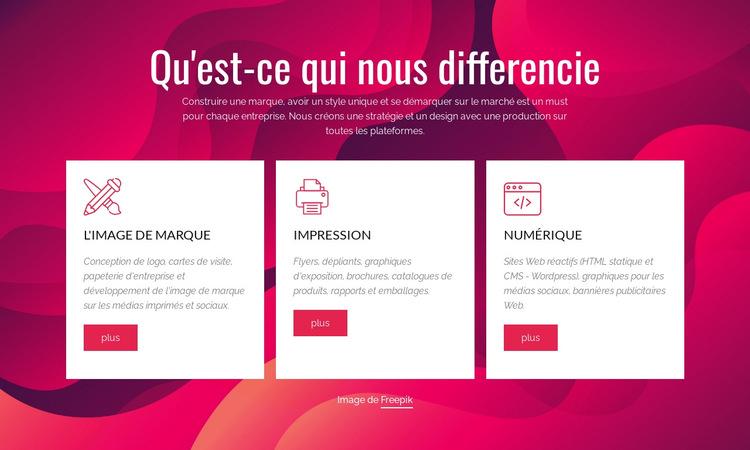 Branding et Digital Creative Studio Modèle de site Web
