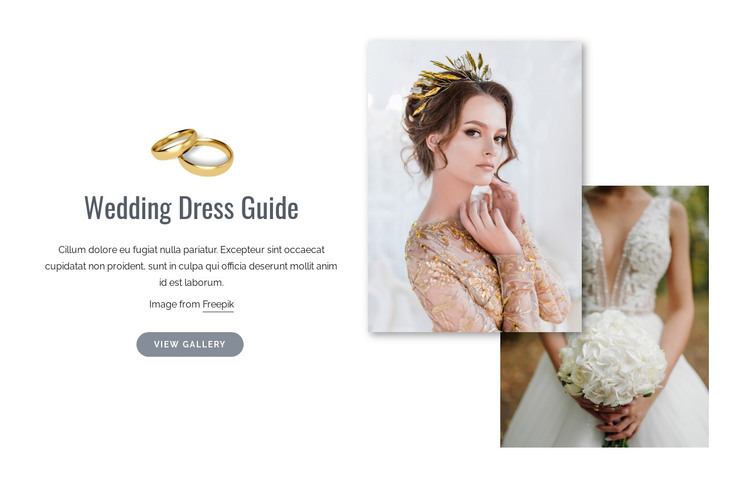 Wedding Dress Shopping HTML Template