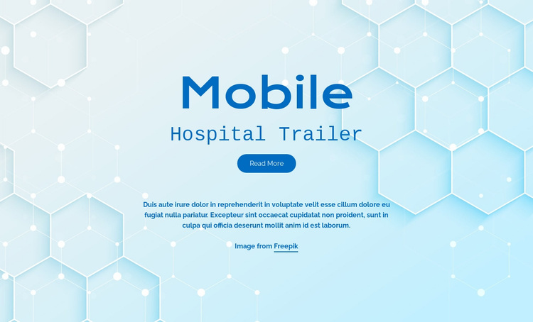 Mobile hospital services Joomla Page Builder