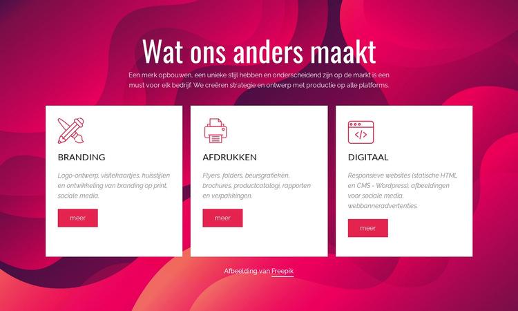 Branding en digitale creatieve studio Website sjabloon