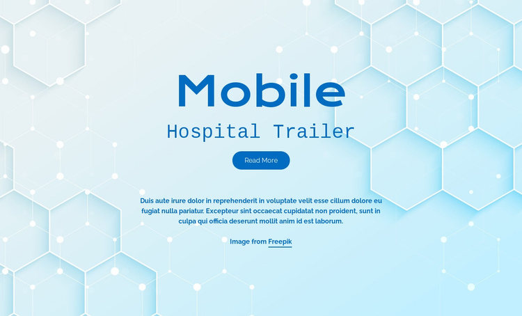 Mobile hospital services One Page Template