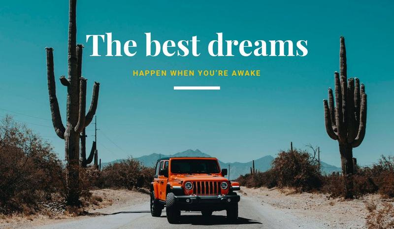 The best comfort car Web Page Designer