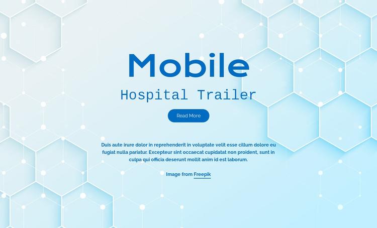 Mobile hospital services Website Builder Software