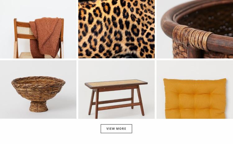 Gallery with modern details Website Mockup