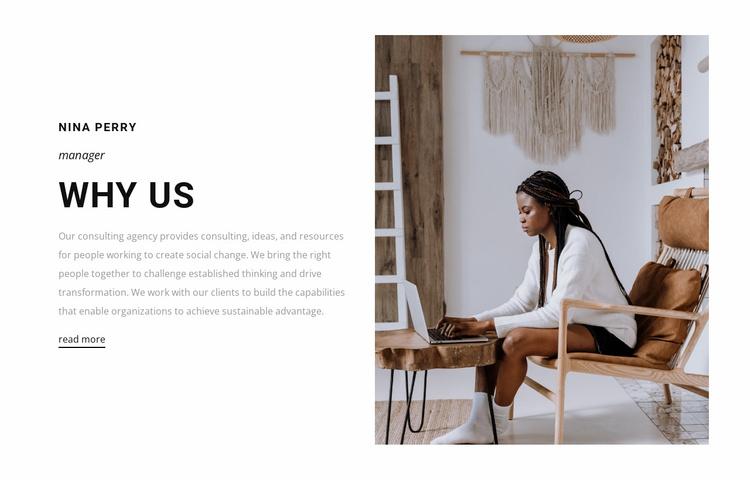 Why people choose us Website Template